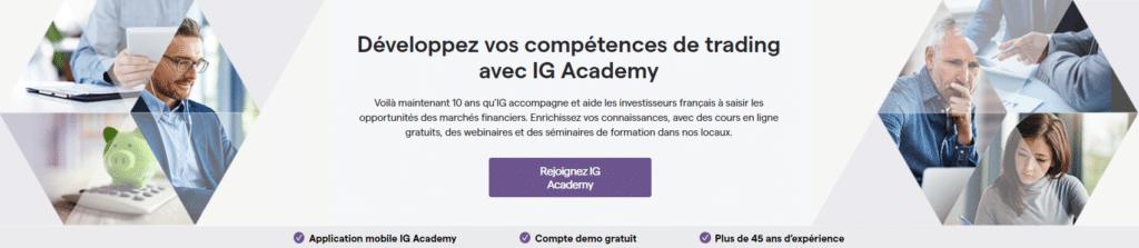 IG Academy du courtier IG Markets