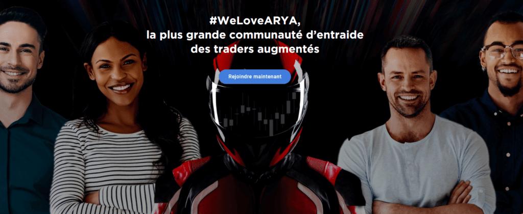 Communauté d'entraide Arya Trading